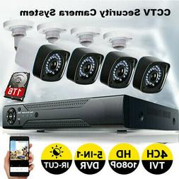 4CH 1080N HDMI DVR 720P Outdoor Security Camera System with