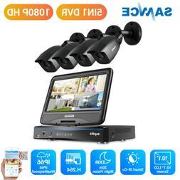 SANNCE 4CH 1080N DVR 10.1'' LCD Monitor 1080P Outdoor IR Sec