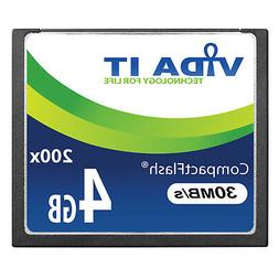 4GB 30MB/s Compact Flash CF Memory Card Record 4K UHD Video