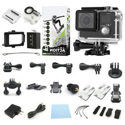 4K Action Camera Dual Screen Ultra HD Camcorder + Accessory