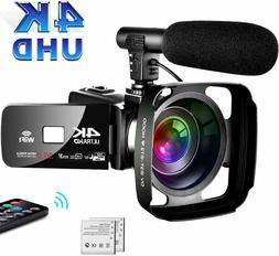 4K Camcorder Video Camera,Vlogging Camera for YouTube 30MP C