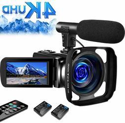 SAULEOO 4K Video Camera Camcorder Digital YouTube Vlogging C