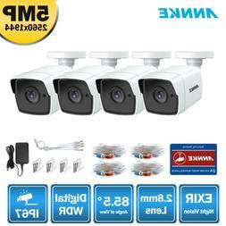 ANNKE 4x Super HD 5MP Security Camera Outdoor 3D DNR Smart I