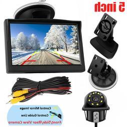 5'' TFT LCD Monitor Car Backup Camera Rear View Parking Syst