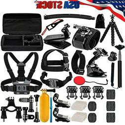 50 Accessories Kit for Gopro Hero 8 7 6 Session Black Tripod