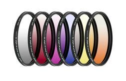 58mm 6 Piece Professional Gradual Color Filter Kit 58mm by U