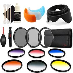 58mm Color Filter Kit with Accessories for Canon EOS Rebel T