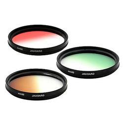 58mm Graduated Gradual density Color Camera lens Filter KIT