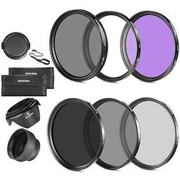 58MM UV CPL FLD ND Filter Kits Lens Filter Accessory Kit For