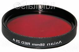 58mm Red Color Filter #25 B&W Film Digital 25A 25-A 58 mm 58