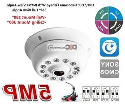 5MP BNC 360 Degree Fisheye Wide Angle Security Indoor Camera