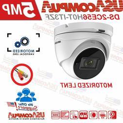 Hikvision 5MP Camera HD-TVI Analog Dome Varifocal Motorized