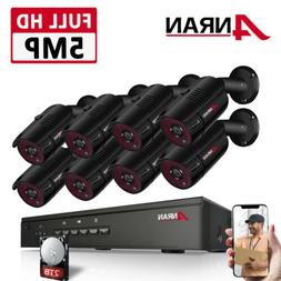ANRAN 5MP CCTV Security Camera System 1920P Network POE Outd
