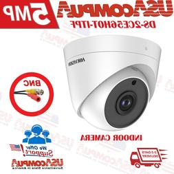 Hikvision 5MP Turbo HD Analog 4in1 Indoor IR Turret Camera D