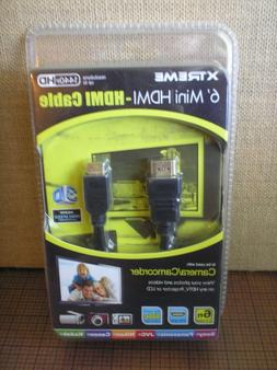 6' XTreme Mini HDMI Cable Camera Camcorder Sony Kodak Panaso