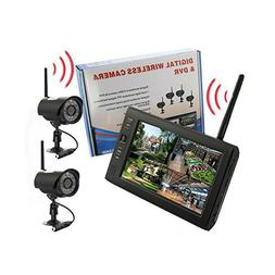 "2.4GHz 7"" Wireless TFT Baby Monitor Digital LED Camera DVR H"