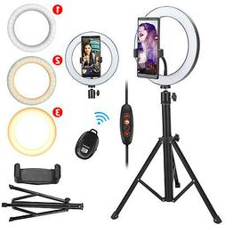 """8"""" LED Ring Light w/Tripod Stand for Camera Phone Selfie Liv"""