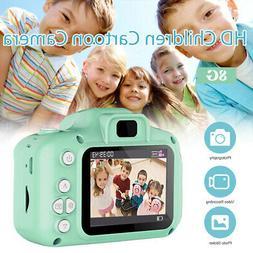 800W Children Camera Mini Digital Cartoon Cute USB Rechargea