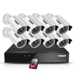 TMEZON 8CH 1080P HDMI DVR 2.0MP Outdoor CCTV Home Security C