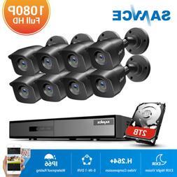 SANNCE 8CH 1080P HDMI DVR CCTV Home 3000TVL Security Camera