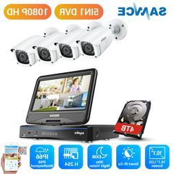 "SANNCE 8CH 1080P Security Camera System CCTV DVR 10.1"" Monit"