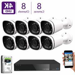8CH NVR Security Camera System w/ 8 x 4K 3X Optical Zoom Mic