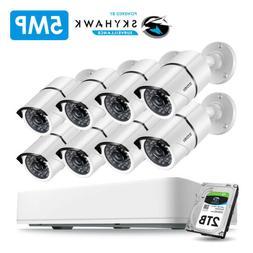 ZOSI 8CH Super HD 5MP Security Camera System 2T DVR 5MP IR O