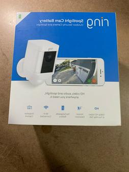 Ring Spotlight Cam Battery HD Security Camera with Built Two