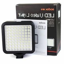 Godox LED 64 Continuous On Camera LED Panel light,Portable D