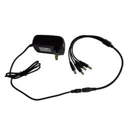 Security Camera Power Supply Adapter DC 12V 2A + 4 Port Spli