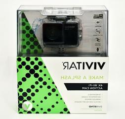 Vivitar - 4K Action Camera with Remote - Black