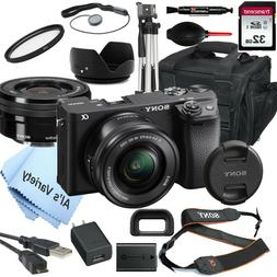 Sony a6400 Mirrorless Camera ILCE-6400L/B 16-50mm Lens Kit +