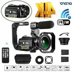 ORDRO AC3 4K 24MP WiFi Digital Video Camera Camcorder 30X Zo