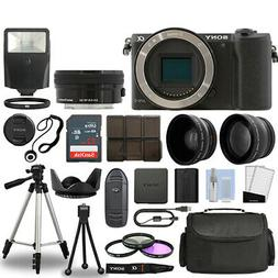 Sony Alpha a5100 Camera Body Black + 3 Lens Kit 16-50mm OSS+