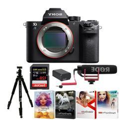 Sony Alpha a7SII Digital Camera  with Rode GO Lightweight Mi