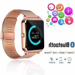 Bluetooth Smart Watch Phones Touch Screen Remote Camera for