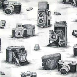 Antique Camera Black & White Gray Retro Photographic Equipme