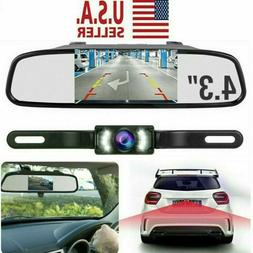 Backup Camera Mirror Car Rear View Reverse Parking System Ki