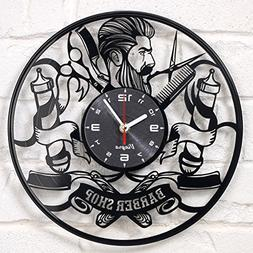 Barber Shop clock vinyl record Hipster Hairdresser Hair Salo