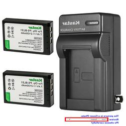 Kastar Battery AC Wall Charger for Olympus BLS-1 PS-BLS1 & O