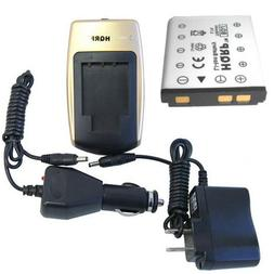 HQRP Battery and Battery Charger for Fuji FujiFilm FinePix S