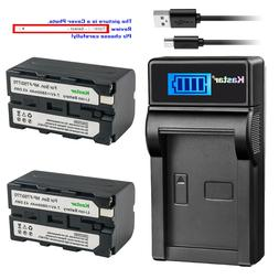 Kastar Battery Charger Sony NP-F770 NP-F750 NP-F730 BC-V615