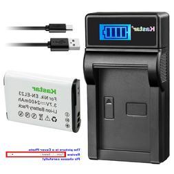 Kastar Battery LCD Charger for Nikon EN-EL23 MH-67P & Nikon
