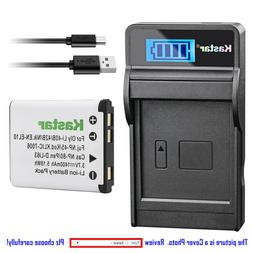 Kastar Battery LCD Charger for Olympus Li-40B Li-42B Olympus