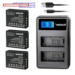 Kastar Battery LCD Dual Charger for Fujifilm NP-W126 NP-W126
