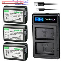 Kastar Battery LCD Dual Charger for Sony NP-FW50 TRW & ILCE-