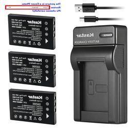 Kastar Battery Slim Charger for Fuji NP-60 & Fujifilm FinePi