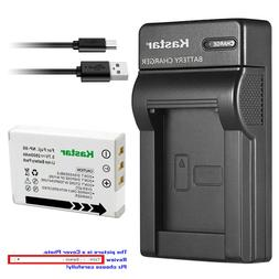 Kastar Battery Slim Charger for Fujifilm NP-95 BC-65N & Fuji