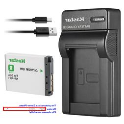 Kastar Battery Slim Charger for Sony NP-FR1 NPFR1 Sony Cyber