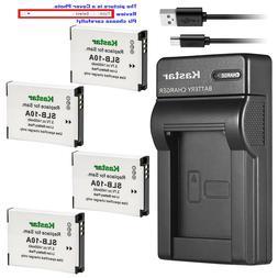 Kastar Battery Slim Charger for Samsung SLB-10A & Samsung WB